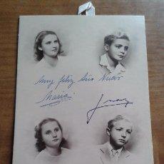 Coleccionismo Calendarios: CALENDARIO 1949 - FIRMADO D. JUAN DE BORBON Y DOÑA MARIA - FOTO PILAR - JUAN CARLOS - ALFONSO - MARG. Lote 72968955