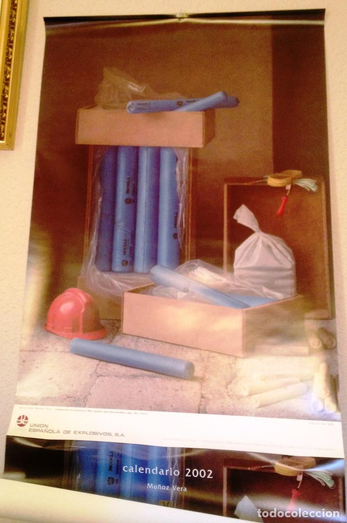 CALENDARIO DE PARED DE UNION ESPAÑOLA DE EXPLOSIVOS- AÑO 2002- GUILLERMO MUÑOZ VERA- (Coleccionismo - Calendarios)