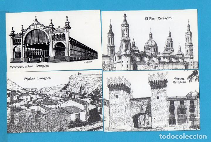DIEZ Y OCHO CALENDARIOS DE DIBUJOS DE ARAGON DE DIBUJANTE A PLUMILLA ALFONSO CIFUENTES BLAZQUEZ 2002 (Coleccionismo - Calendarios)
