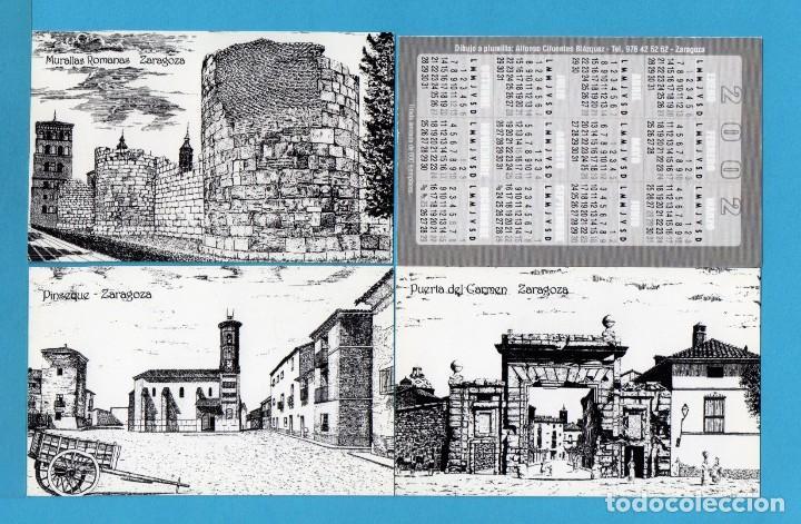 Coleccionismo Calendarios: Diez y Ocho Calendarios de Dibujos de Aragon de Dibujante a plumilla Alfonso Cifuentes Blazquez 2002 - Foto 3 - 73454207