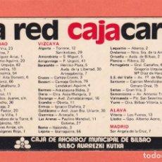 Coleccionismo Calendarios: CALENDARIO 1984 - CAJA DE AHORROS MUNICIPAL DE BILBAO - BILBO AURREZKI KUTXA. Lote 74104463