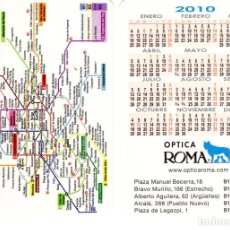 Coleccionismo Calendarios: CALENDARIO DE BOLSILLO - ÓPTICA ROMA - AÑO 2010. Lote 235843860