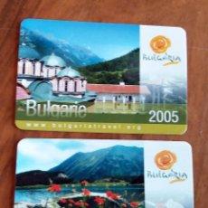 Coleccionismo Calendarios: 2 CALENDARIOS DE BOLSILLO - 2005 - BULGARIA. Lote 74198215