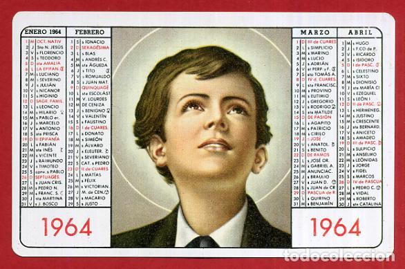 Calendario Boschi.Calendario Publicidad Don Bosco Plastico 1964 Original Cal9131