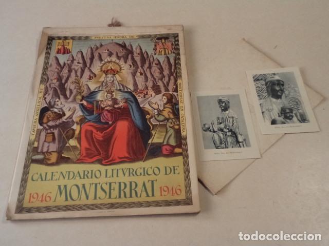 CALENDARIO LITÚRGICO DE MONTSERRAT - AÑO 1946 (Coleccionismo - Calendarios)