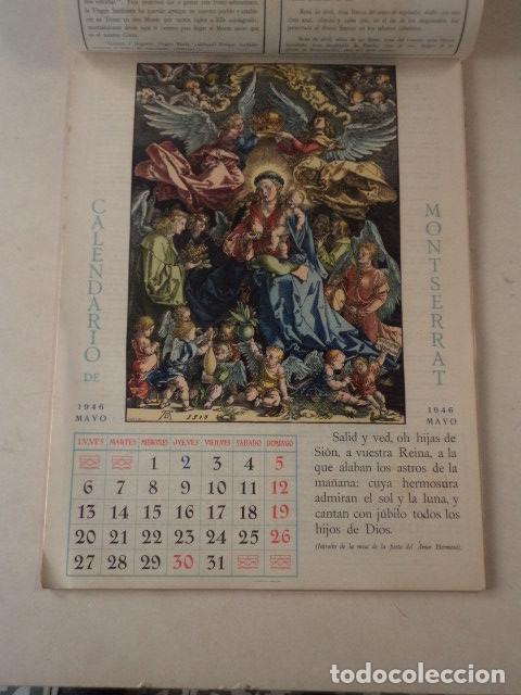 Coleccionismo Calendarios: CALENDARIO LITÚRGICO DE MONTSERRAT - AÑO 1946 - Foto 3 - 74579223