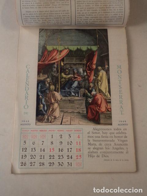 Coleccionismo Calendarios: CALENDARIO LITÚRGICO DE MONTSERRAT - AÑO 1946 - Foto 4 - 74579223