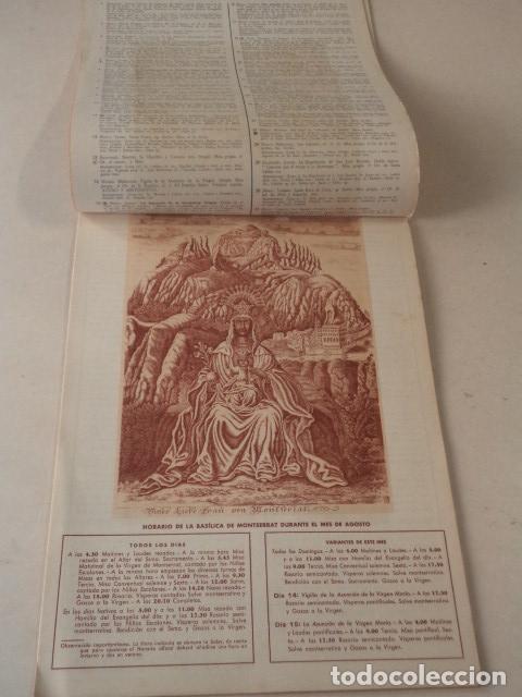 Coleccionismo Calendarios: CALENDARIO LITÚRGICO DE MONTSERRAT - AÑO 1946 - Foto 5 - 74579223