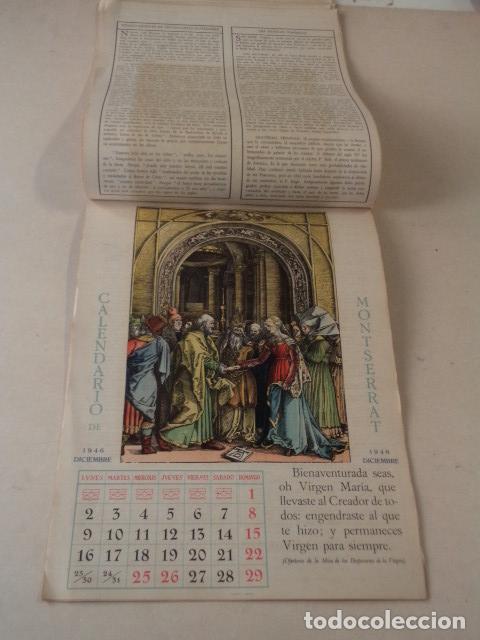 Coleccionismo Calendarios: CALENDARIO LITÚRGICO DE MONTSERRAT - AÑO 1946 - Foto 6 - 74579223