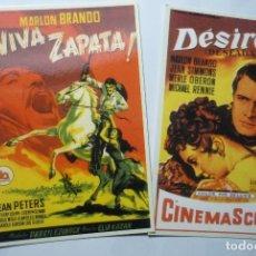 Coleccionismo Calendarios: LOTE CALENDARIOS CINE PELICULAS MARLON BRANDO 2006 - VIVA ZAPATA-DESIREE. Lote 74622411