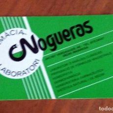 Coleccionismo Calendarios: CALENDARIO DE BOLSILLO - 1991 - PUBLICITARIO - FARMÁCIA LABORATORI NOGUERAS - MANRESA. Lote 74627679
