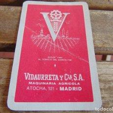 Coleccionismo Calendarios: CALENDARIO DE FOURNIER VIDAURRETA Y CIA S.A. MAQUINARIA AGRICOLA MADRID 1958. Lote 74629391