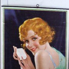 Coleccionismo Calendarios: ANTIGUO CALENDARIO ALMANAQUE DE PARED 1933 PUBLICIDAD JABÓN LUX - 56 X 36 CM.. Lote 74873271