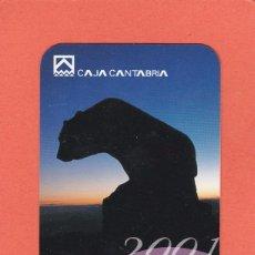 Coleccionismo Calendarios: CALENDARIO 2001 - CAJA CANTABRIA. Lote 75059187