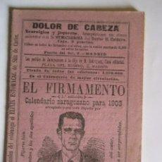Coleccionismo Calendarios: CALENDARIO EL FIRMAMENTO 1903. Lote 75131859