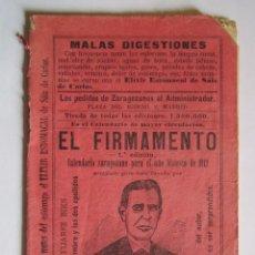 Coleccionismo Calendarios: CALENDARIO EL FIMAMENTO 1912. Lote 75132895