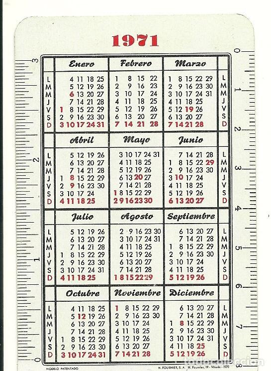 Coleccionismo Calendarios: Calendario Fournier de Waterman. Año 1971. - Foto 2 - 75166327