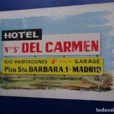 Coleccionismo Calendarios: CALENDARIO BOLSILLO HERACLIO FOURNIER 1962 (HOTEL DEL CARMEN) FOTO REVERSO). Lote 75249551