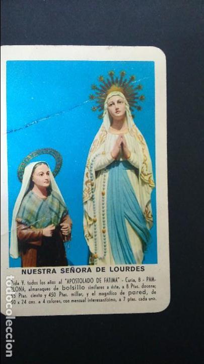 CALENDARIO FOURNIER 1958 APOSTOLADO NTRA SRA. DE LOURDES (Coleccionismo - Calendarios)