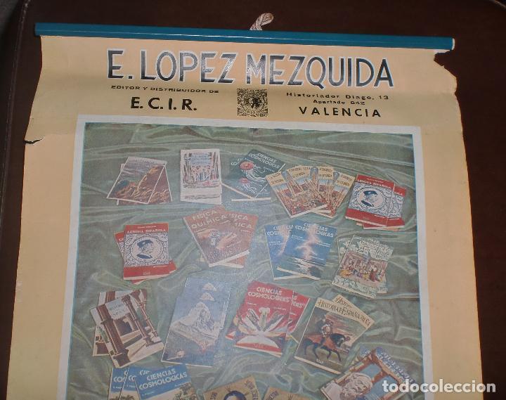 Coleccionismo Calendarios: CALENDARIO PUBLICITARIO. 1947. E. LOPEZ MEZQUIDA, VALENCIA. COMPLETO. 29 X 45CM. VER FOTOS - Foto 3 - 75678135