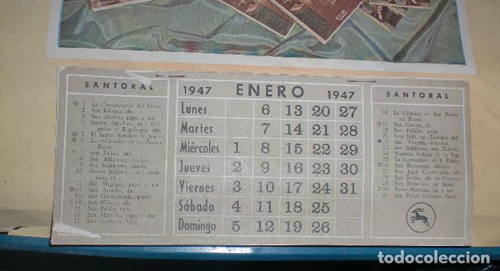 Coleccionismo Calendarios: CALENDARIO PUBLICITARIO. 1947. E. LOPEZ MEZQUIDA, VALENCIA. COMPLETO. 29 X 45CM. VER FOTOS - Foto 4 - 75678135