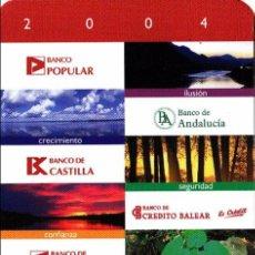 Coleccionismo Calendarios: CALENDARIO 2004 - GRUPO BANCO POPULAR. Lote 117239115