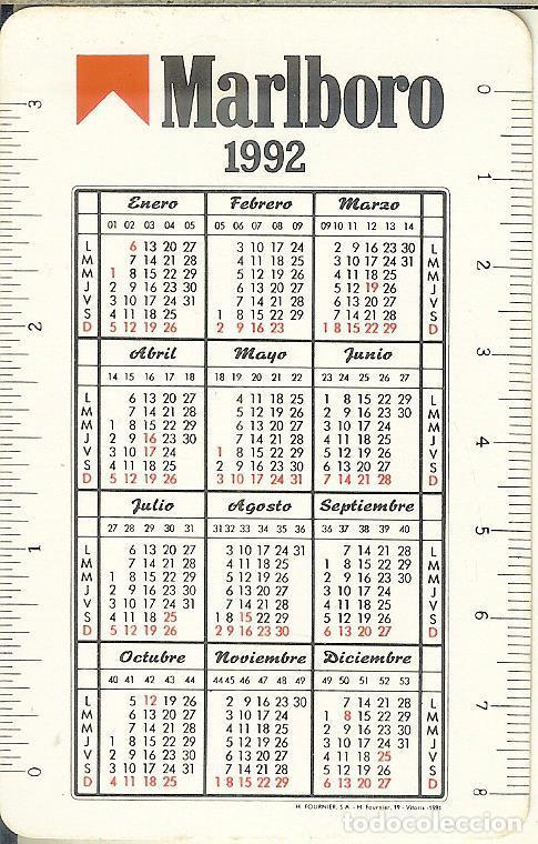 Marbaro Calendario 2020.Calendario Fournier 1992 Marlboro