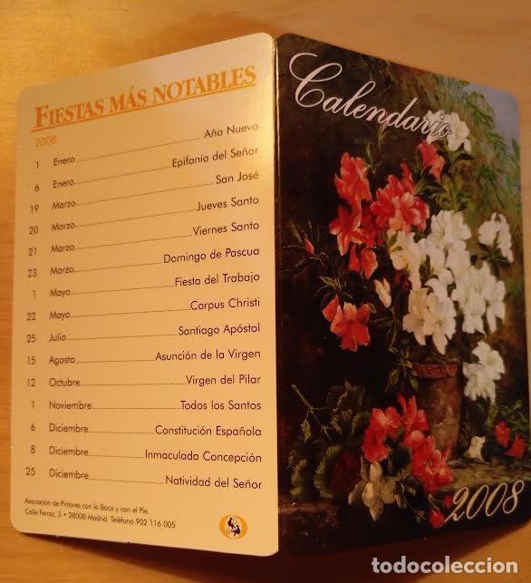 CA 13 CALENDARIO 2008 - ASOCIACIÓN DE PINTORES CON LA BOCA Y CON EL PIÉ (Coleccionismo - Calendarios)