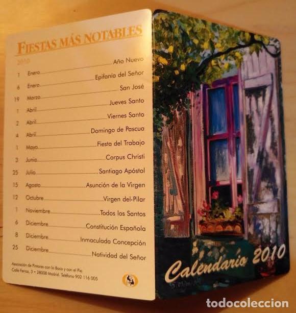 CA 14 CALENDARIO 2010 - ASOCIACIÓN DE PINTORES CON LA BOCA Y CON EL PIÉ (Coleccionismo - Calendarios)