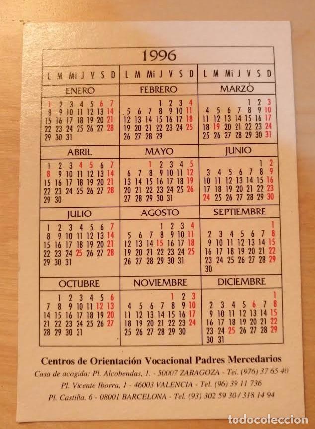 Coleccionismo Calendarios: Ca 18 Calendario Virgen Ntra Sra de la Merced 1996 - Padres Mercedarios - Foto 2 - 77560917