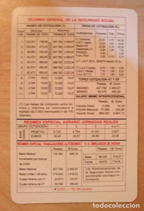 CA 21 CALENDARIO 2000 - 100 AÑOS SEGURIDAD SOCIAL (Coleccionismo - Calendarios)
