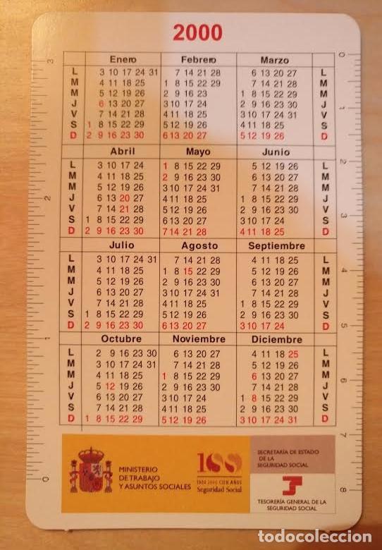 Coleccionismo Calendarios: Ca 21 Calendario 2000 - 100 años Seguridad Social - Foto 2 - 77627085