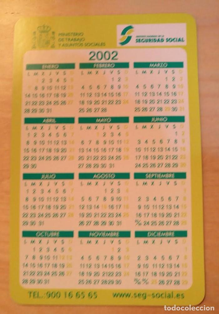 Coleccionismo Calendarios: Ca 23 Calendario Instituto Nacional de la Seguridad Social PENSIONES 2002 - Foto 2 - 77628589