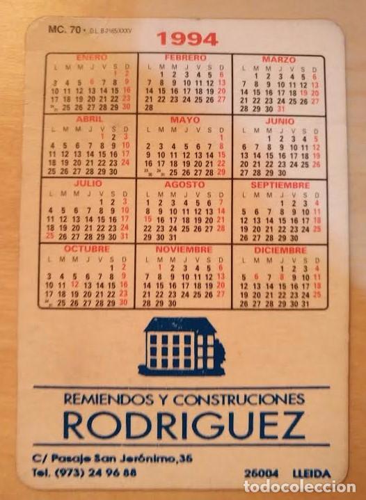 Coleccionismo Calendarios: Ca 29 Calendario 1994 - Remiendos y Construcciones RODRÍGUEZ - Lleida - Foto 2 - 77643645