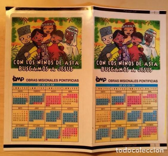 CA 37 CALENDARIO 2009 - OPM OBRAS MISIONALES PONTIFICIAS - ADHESIVO (Coleccionismo - Calendarios)
