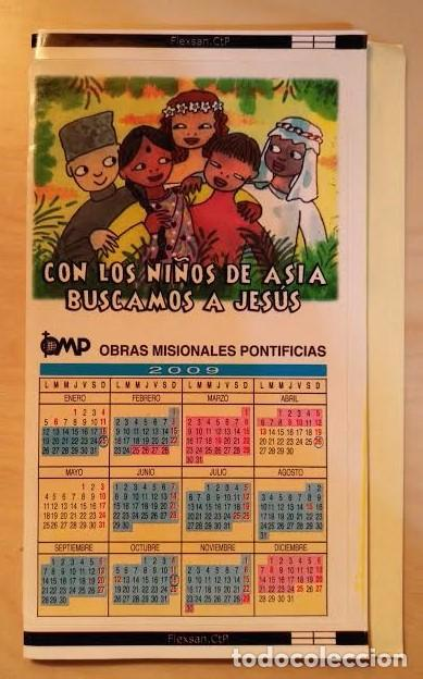 Coleccionismo Calendarios: Ca 37 Calendario 2009 - OPM Obras Misionales Pontificias - Adhesivo - Foto 2 - 77741125