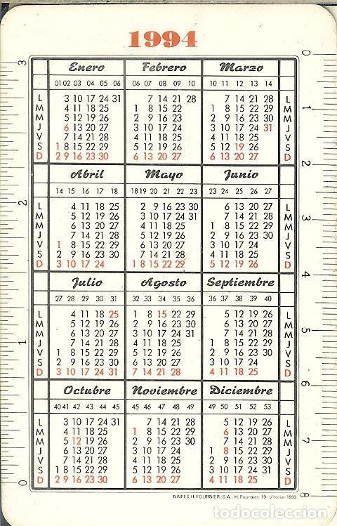 Coleccionismo Calendarios: CALENDARIO FOURNIER - 1994 - BANCO GUIPUZCOANO - Foto 2 - 77825433