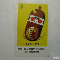 Coleccionismo Calendarios: CALENDARIO FOURNIER .-1976 CAJA AHORROS PROVINCIAL DE TARRAGONA ---BB. Lote 78089633
