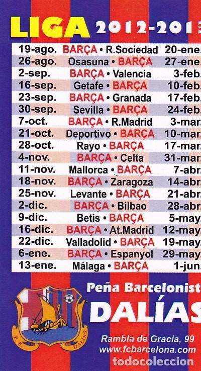Calendario Del Barca.Calendario De Liga Fc Barcelona Barca