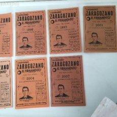 Coleccionismo Calendarios: CALENDARIO ZARAGOZANO - EL FIRMAMENTO - LOTE DE 7 LIBRITOS: 1995-1996-1997-2001-2002-2004-2007. Lote 80524253
