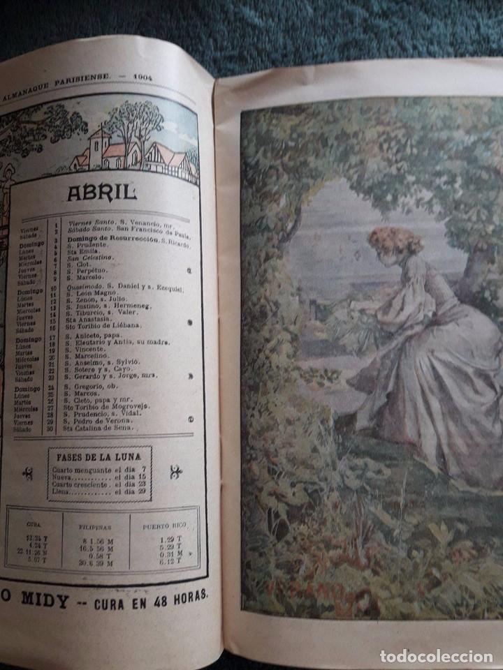 Coleccionismo Calendarios: ALMANAQUE PARISIENSE 1904 / OFRECIDO POR LA CASA GRIMAULT Y Cia / VIAL, SUCC, 8 RUE VIVIENNE / PARIS - Foto 2 - 80546646