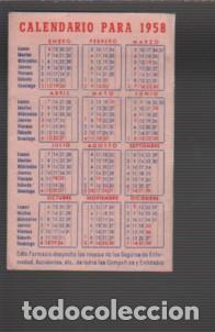 Coleccionismo Calendarios: calendario despeglabe publicidad farmacia fernando ferrer plaza martires de Manresa 1958 - Foto 2 - 80598294