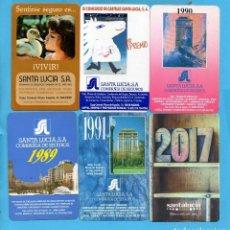 Coleccionismo Calendarios: OCHO CALENDARIOS DE VARIOS AÑOS DE SANTA LUCIA SEGUROS . Lote 80699518