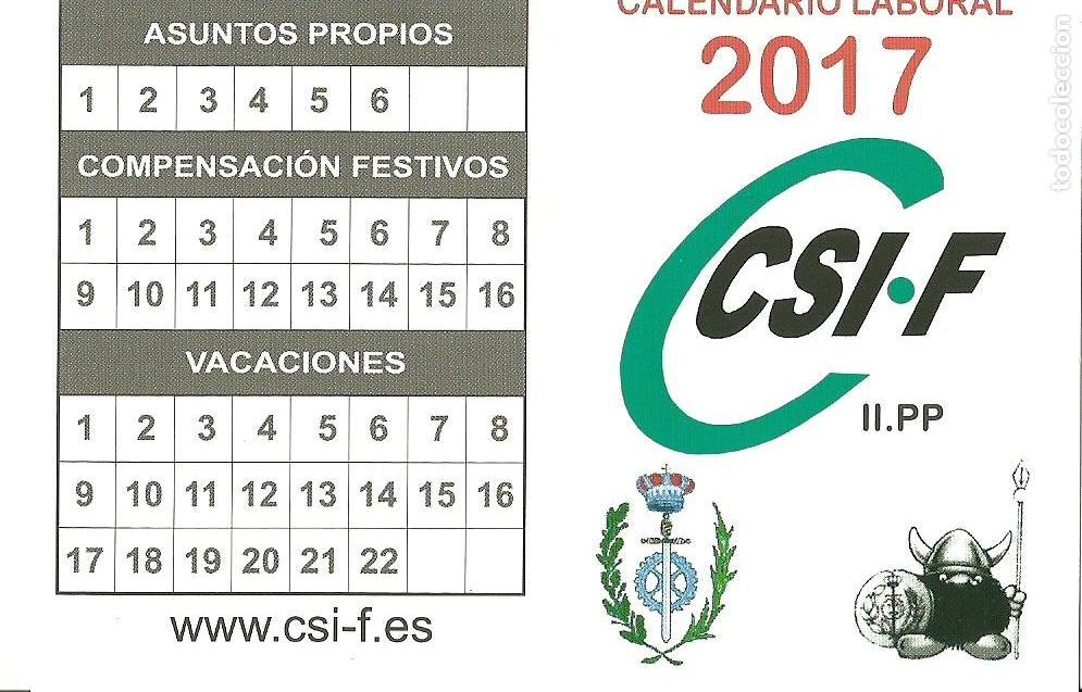 Calendario Csi.Calendario Sindicatos Politicos Csi Csif 2017
