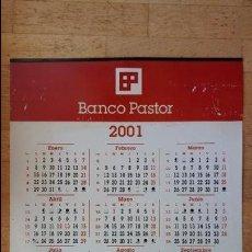 Coleccionismo Calendarios: CALENDARIO BANCO PASTOR 2001 ,PLASTIFICADO NO PAPEL DE 69 X 49 CMS. Lote 82202256