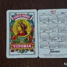 Coleccionismo Calendarios: CALENDARIO FOURNIER AS DE OROS AÑO 2012. Lote 83764776