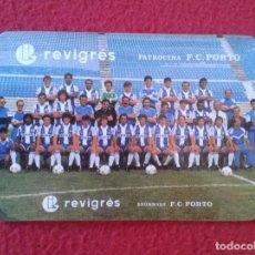 Coleccionismo Calendarios: CALENDARIO DE BOLSILLO CALENDAR 1990 DE PORTUGAL FÚTBOL FOOTBALL FUTEBOL PORTO OPORTO REVIGRES. Lote 83825508
