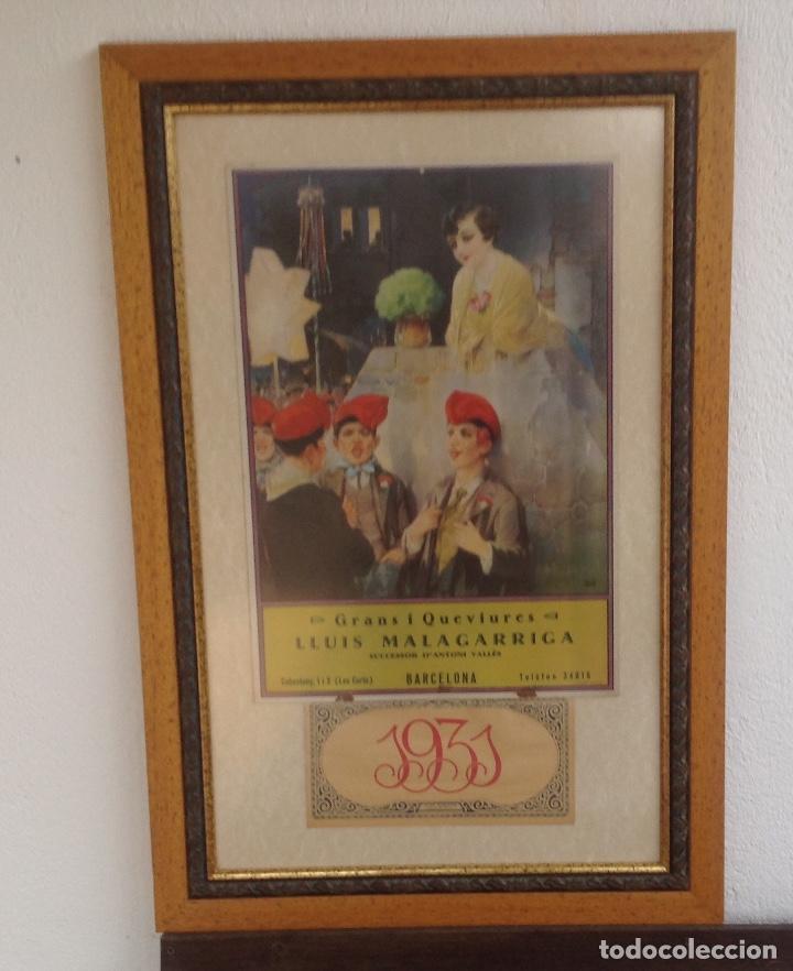 Excepcional Calendario De Pared Enmarcado Ilustración - Ideas ...