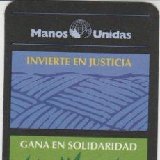 Coleccionismo Calendarios: CALENDARIOS CALENDARIO MANOS UNIDAS 1998. Lote 194754057