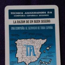 Coleccionismo Calendarios: CALENDARIO FOURNIER. TECNICA ASEGURADORA.1987. Lote 85202148